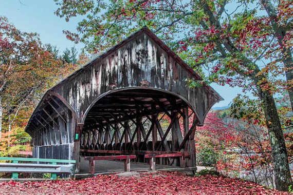 Artist covered bridge